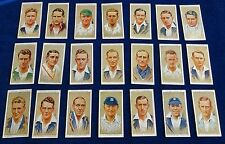 MULTI-LIST OF SINGLE VINTAGE JOHN PLAYERS CIGARETTE CARDS; CRICKETERS 1934 ODDS