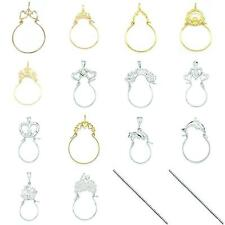 Sterling Silver & 14K Gold Charm Holder Jewelry
