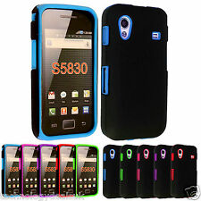Dual Layer Defender Case for Samsung Galaxy Ace S5830 Hybrid Hard Silicone Cover