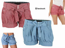 Fenchurch Madeline Chambray Denim Shorts Womens Young Ladies Size UK 8 10