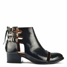 Jeffrey Campbell Shoes Leroy Black Patent Cut Out Ankle Boot RRP129