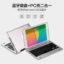 Plastic Wireless Bluetooth Keyboard+Untra thin PC Shell Cover Case For ipad mini