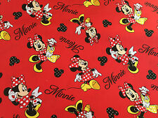 MINNIE LOVES SHOPPING TOSS COTTON CRAFT FABRIC  FQ,-METRE NEW