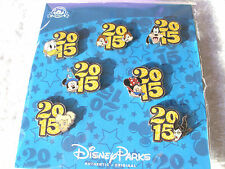 Disney * 2015 Mickey & Friends * 7 Pin BOOSTER Set - Tink Donald Maleficent