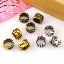12Pc Tibetan Silver,Antiqued Gold,Bronze S Barrel Beads Fit Charm Bracelet M1394