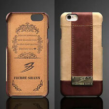 Luxury Genuine Leather Hard Back Case Thin Protective Cover For iPhone 6/6s Plus