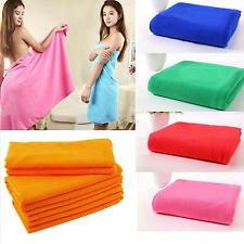 Microfiber Absorbent Bath Shower Beach Soft Large Towel Dry Washcloth Swimwear