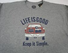Men's Life is Good T Shirt Football Tailgate Large