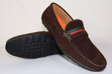 BROWN MENS ITALIAN LOAFERS MOCCASIN CASUAL PARTY SLIP ON SHOES