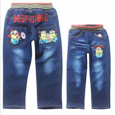 Cool Kids Children Boys Girls Despicable Me Minions Unisex Jeans Pants 3-9Years