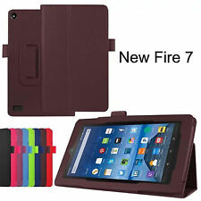"For Amazon Kindle Fire HD 7"" Folio PU Leather Flip Stand Smart Case Fast Ship"