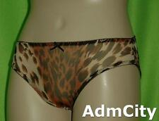 Women's Leopard Print Spandex Mesh Full Back Panty Breathable and Stretch