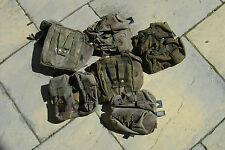 BRITISH ARMY SURPLUS G2 DPM PLCE DOUBLE 5.56mm WEBBING MAGAZINE POUCH FADED