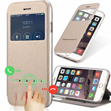 New Leather Flip Window View Stand Cover Case For iPhone 4 4S 5 5S 6 6S 7 Plus