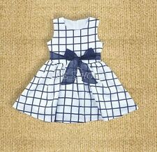 Baby Clothes Infant Girls Dress Cotton Party Dress Baby Summer Dress Plaid 0-3T