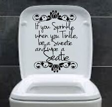 If you sprinkle Funny Toilet Sticker Seat  Bathroom Decal Wall Sticker WC Vinyl