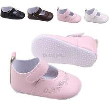Kids Princess Shoes Baby Girl PU Leather Soft Crib Shoes 0-12 Months Baby Shoes