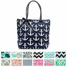"16"" Quilted Shoulder Tote Bag Purse Handbag Diaper Baby Beach Cotton Kids Womens"