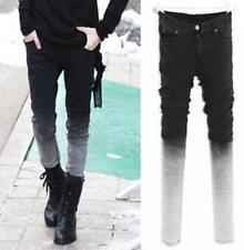 Chic Mens College Slim Fit Pencil Denim Skinny Casual Jeans Pants Trousers CN22