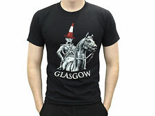 Scottish Glasgow Duke of Wellington Statue With Cone on His Head T Shirt New