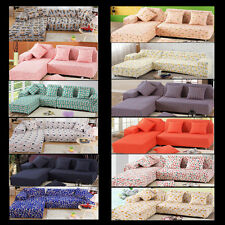 Removable 1 2 3 4 Seater L-Shaped Sofa Protector Stretch Sofa Couch Slip Covers