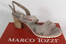 Marco Tozzi Women's Sandals, grey, soft Leather insole, Block heel NEW