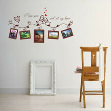 Love Birds Photo Frame Wall Stickers Removable Vinyl Decals Art Home Decor Mural