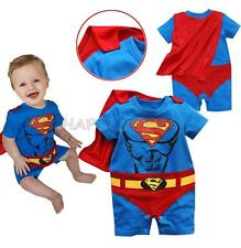 Cute Baby Infant Boys Superman Romper Costume One Piece Bodysuit Cosplay Clothes