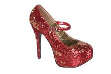 BORDELLO Women's Heel Sequins Mary Jane Concealed Platform Dress Pump TEEZE-07SQ