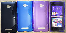 Soft S-Line TPU Hybrid Gel plastic back Case Cover for HTC Windows Phone 8X