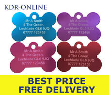 Pet Identity Tags 38mm Personalised Engraved Anodized Aluminium Dog ID Tag