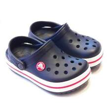 Boys Blue Crocs | Crocband Kids | Navy with Red and White Stripe