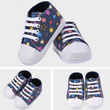 Girls Boys High Quality  Canvas Shoes Soft Baby Shoes Rainbow Walkers
