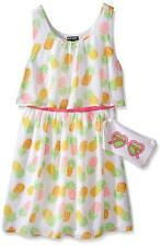 Pogo Club Girls South Beach Sunshine Chiffon Dress with Bag Size 4 5/6 6X $44