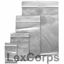 Clear Poly Zipper Bags Reclosable Zip lock 100 500 1000 Resealable Plastic Bag