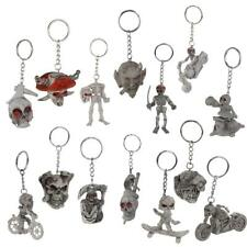 Stylish Punk Purse Bag Rubber Skull Skeleton Key Ring Chain Keyring Jewelry Gift