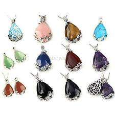 Beautiful Natural Amethyst Gemstone Teardrop Flower Pendant Bead For Necklaces