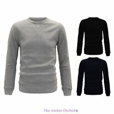Mens Fashion Pullover Knitted Crew Neck Sweater Activewear Warm Jumper Jersey