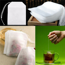 100X non-woven Empty Teabags String Heat Seal Filter Paper Herb Loose Tea Bag es