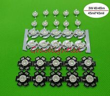 5 10 50 100pcs 3W Blue High Power Led Light Bead Chip 460-465nm no / with pcb