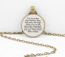 Peter Pan Tinkerbell You know that place..Gift Pendant Necklace Key Chain