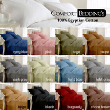 EURO KING SIZE 1200TC FITTED SHEET, FLAT, BED SKIRT, DUVET COVER & SET COLORS