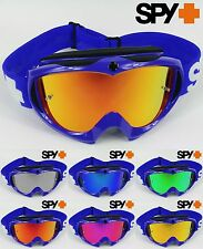 SPY OPTICS TARGA 2 ALLOY MOTOCROSS MX GOGGLES BLUE with GOGGLE-SHOP MIRROR LENS