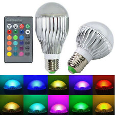 E27 10/15W RGB LED Light Color Changing Lamp Bulb With Remote Control Sales