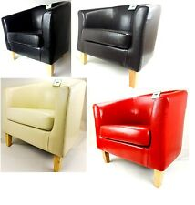 BRAND NEW FAUX LEATHER PU TUB CHAIR ARMCHAIR DINING ROOM MODERN OFFICE FURNITURE