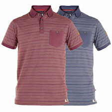 Mens Short Sleeved Striped Polo Shirts By D555 Duke Big King Size