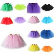 Child Girls 3 Layer Tutu Ballet Dance Dress Skirt Tulle Full Pettiskirt Costume