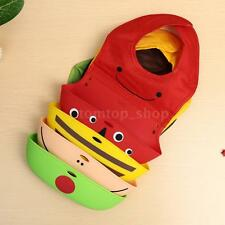 Cartoon Saliva Towel Waterproof Lunch Bibs Baby Kids Infant Animal Toddler R3Y9