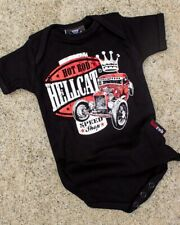 Hotrod Hellcat Speed King Onesie Rockabilly Greaser Car Racer Baby Romper Gift