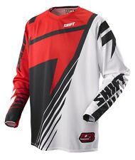 MENS GUYS SHIFT RACING MX ATV RIDING FACTION SATELLITE JERSEY SHIRT OFFROAD RED